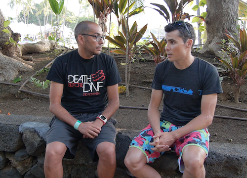 Gomez y Triatlon Channel 2014 Hawaii