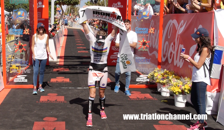 Lucy Charles, gran estrella femenina del Cannes International Triathlon