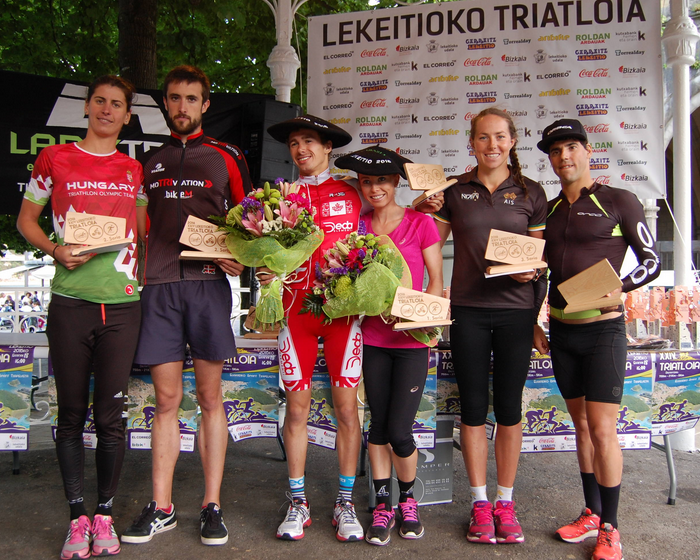 podio lekeitio triatlon