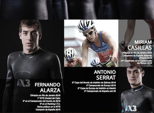 AX3 Triathlon presenta su equipo plagado de internacionales