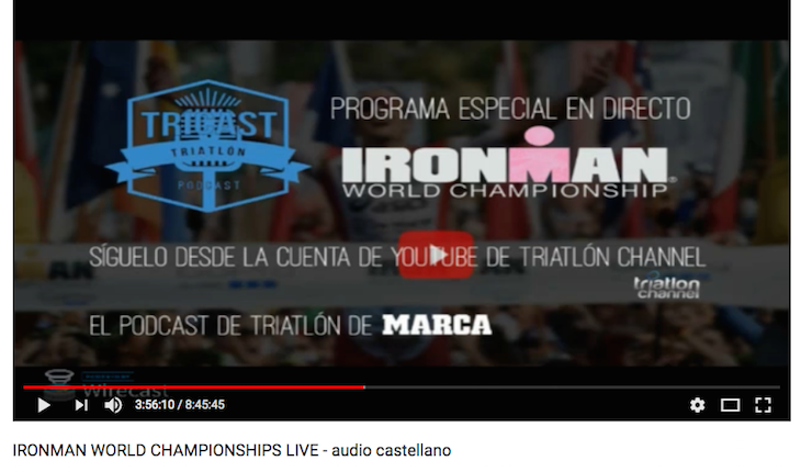 Gracias a la audiencia de Triatlon Channel en el Live #IMKonaTCH