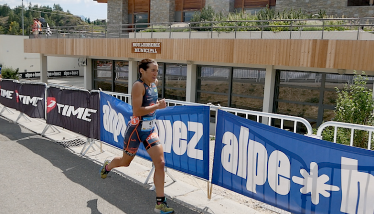 Anna Noguera 3ª en el TIME Triathlon Alpe d´Huez CD