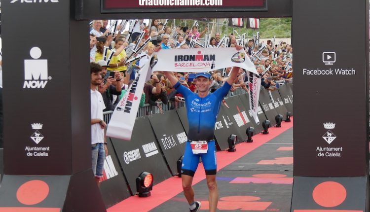 Florian Angert triunfo y debut con records en IRONMAN Barcelona