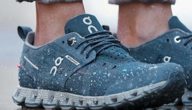 Nueva zapatillas On Cloud Waterproof para la lluvia en asfalto