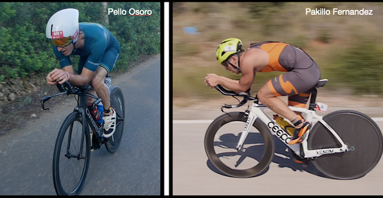 Pakillo vs Pello Osoro en el Triatlon de Riaza